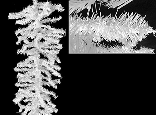 - Northlight Unlit White Canadian Pine Artificial Christmas Garland, 9' x 8