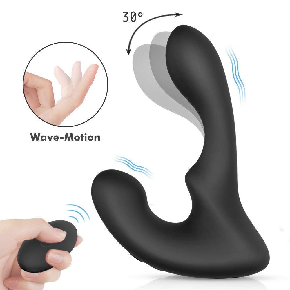 PHANXY Wave-Motion Vibrating Prostate Massager Remote Controlled 9 Speeds G-Spot Vibrator Anal Sex Toy for Men, Women and Couples by PHANXY