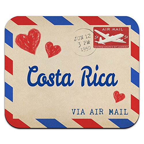 Air Mail Postcard Love for Costa Rica Mouse Pad Mousepad