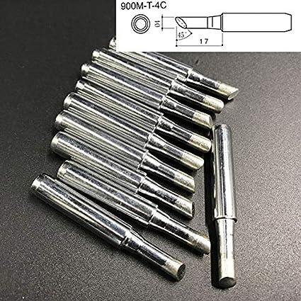 10 PCS Big C Type Puntas de soldadura de soldadura de galvanización sin plomo