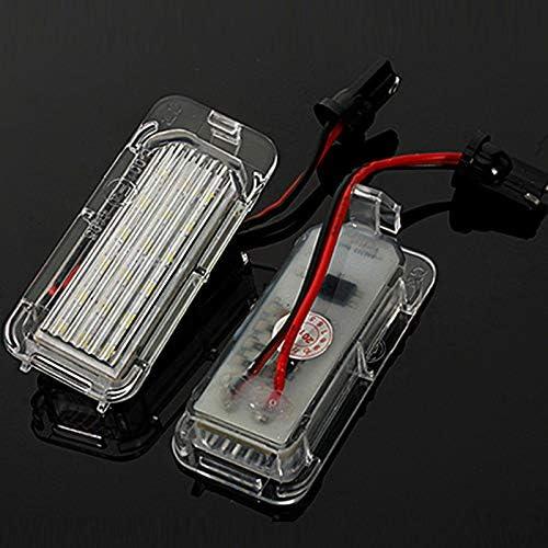 Liamostee 2 Pi/èces LED X/énon Blanc Plaque Immatriculation Feux pour Ford Fiesta Focus Mondeo