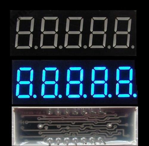 (2 pcs 0.36 inch 5 digit led display 7 seg segment Common Cathode Blue )