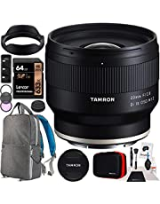 Tamron 20mm F/2.8 Di III OSD M1:2 Lens Model F050 for Sony E-Mount Full Frame Mirrorless Cameras Bundle with Deco Gear Photography Backpack Case + 67mm Filter Kit + 64GB Memory Card + Accessories