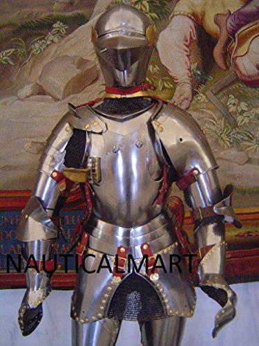 Aragon Costume (NauticalMart King of Aragon Medieval Knight Suit Of Armor)