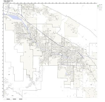 Amazon Com Palm Desert Ca Zip Code Map Laminated Home Kitchen