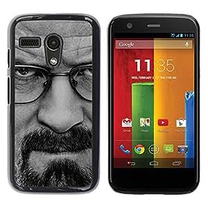 Motorola G1 / X1032 , Radio-Star - Cáscara Funda Case Caso De Plástico (Breaking Meth - Walter W)