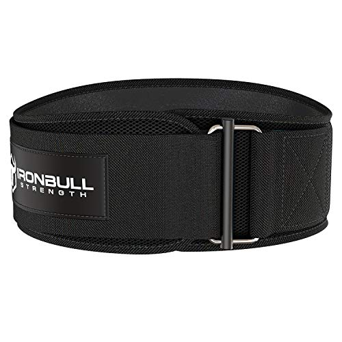 Iron Bull Strength Weightlifting Belt for Men and Women - 6 Inch Auto-Lock Weight Lifting Back Support, Workout Back Support for Lifting, Fitness, Cross Training and Powerlifitng