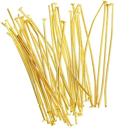 Bronze, 55 mm Eye Pin 200 PCS Eye Pin Jewelry Making Needles Earrings Beading Findings Bracelets Necklaces Beads Connector Accessories Materials Decoration
