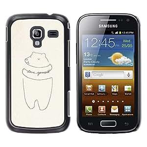 YOYOYO Smartphone Protección Defender Duro Negro Funda Imagen Diseño Carcasa Tapa Case Skin Cover Para Samsung Galaxy Ace 2 I8160 Ace II X S7560M - cerdo amarte a ti mismo dibujo de motivación