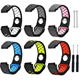 For Garmin Forerunner 220 230 235 630 620 735 band,Senter(6 colors) Soft Silicone Sport Replacement Strap band for Garmin Forerunner 220 230 235 630 620 735 smart watch
