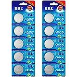 EBL CR2430 3V Lithium Button Cell Battery 10 Pack