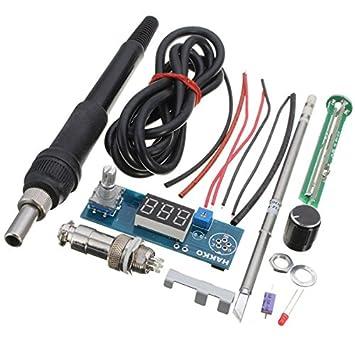 daniu Kits de Control de Temperatura Digital estación de Soldador para Hakko T12 Mango: Amazon.es: Bricolaje y herramientas