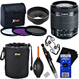 Canon EF-S 18-55mm f/3.5-5.6 IS ''STM'' Lens for Canon SLR Cameras (International Version) + 3pc Filter Kit (UV,FL-D,CPL) + 8pc Bundle Accessory Kit w/ HeroFiber Cleaning Cloth
