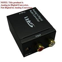 Links Analog to Digital Audio Converter Adapter ¡