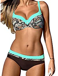 Yusongirl Push up Candy Bikini Set Striped Two Piece Swimsuit Polka Dot Swimwear