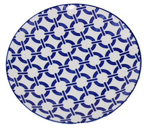 Blue Chainlink Canape Plate