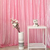 GFCC Sequin Hanging Curtain Photo Booth Sequin Backdrop Curtain Decorations-Blush Pink,12x10FT