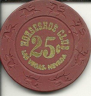 .25 cent binions horseshoe club las vegas casino chip vintage obsolete