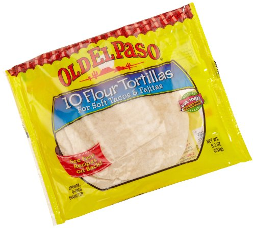 Old El Paso (6-Inch) Flour Tortillas, 10-Count Packages (Pack of 12)