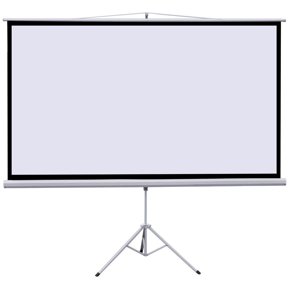 120'' Portable Indoor Outdoor projector screen, 120 Inch Diagonal Projection HD 4:3 Projection Pull Up Foldable Stand Tripod by FDW