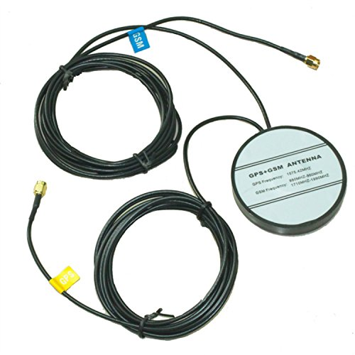 SMA male GPS GSM Combined Antenna RG174 16FT Magnetic base Car Navigation ()