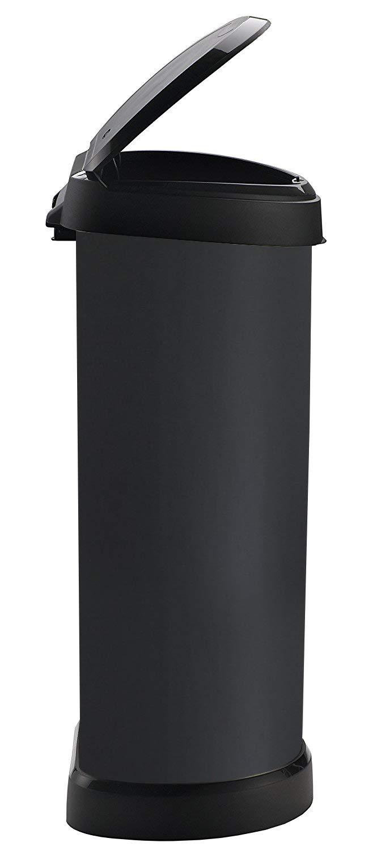 mecanismo de apertura con toque 40 L color rojo Cubo de basura Curver Touch 240269