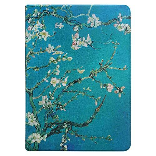 GOLINK Folio Stand Cover Case for iPad 9.7 inch 2018/2017, iPad Air 2/iPad Air with Corner Protection Auto Sleep/Wake-Art Blossom Almond Tree