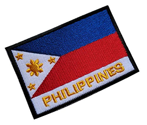 (Republic of the Philippines National Flag Sew on Patch Free Shipping)