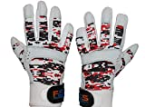 FullScope Sports Baseball Batting Gloves for Adult Boys Girls Youth Pro Softball Glove (6-17 Years) (Red/Black/White Digital Camo) Youth Medium (Ages 7-8 yrs old)