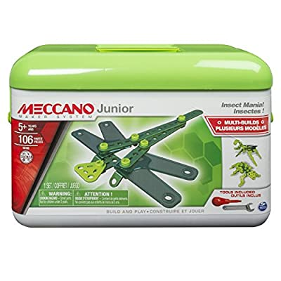 Meccano-Erector Junior Toolbox, Insect Mania, 4 Model Building Kit: Toys & Games