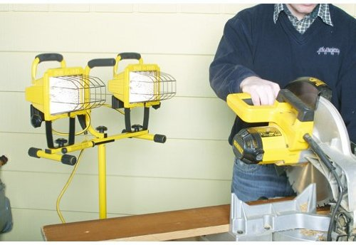 Designers Edge L14SLED 1000 Watt Adjustable Twin Head Halogen Work Light With Stand by Coleman Cable (Image #3)