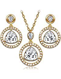 """LadyColour """"Eternal Light"""" Necklace Earrings Jewelry Set Made with Swarovski Crystals - Light up your world!"""