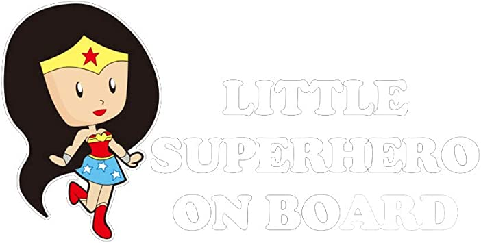 Little Superhero On Board Baby//Child Car Sign Any Name