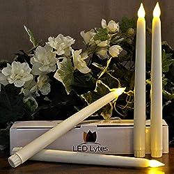 Tapered Timer Flameless Candlesticks Set of 4 Batt