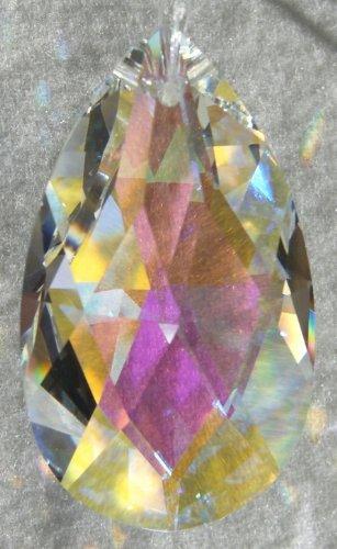 Swarovski 50mm Aurora Borealis Crystal Oval Drop (Aurora Borealis Glass Necklace)