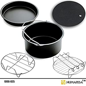 Air Fryer Accessories,for Phillips Air Fryer and Gowise Air Fryer Fit all 3.7QT-5.3QT-5.8QT ,Set of 5-7 Inch