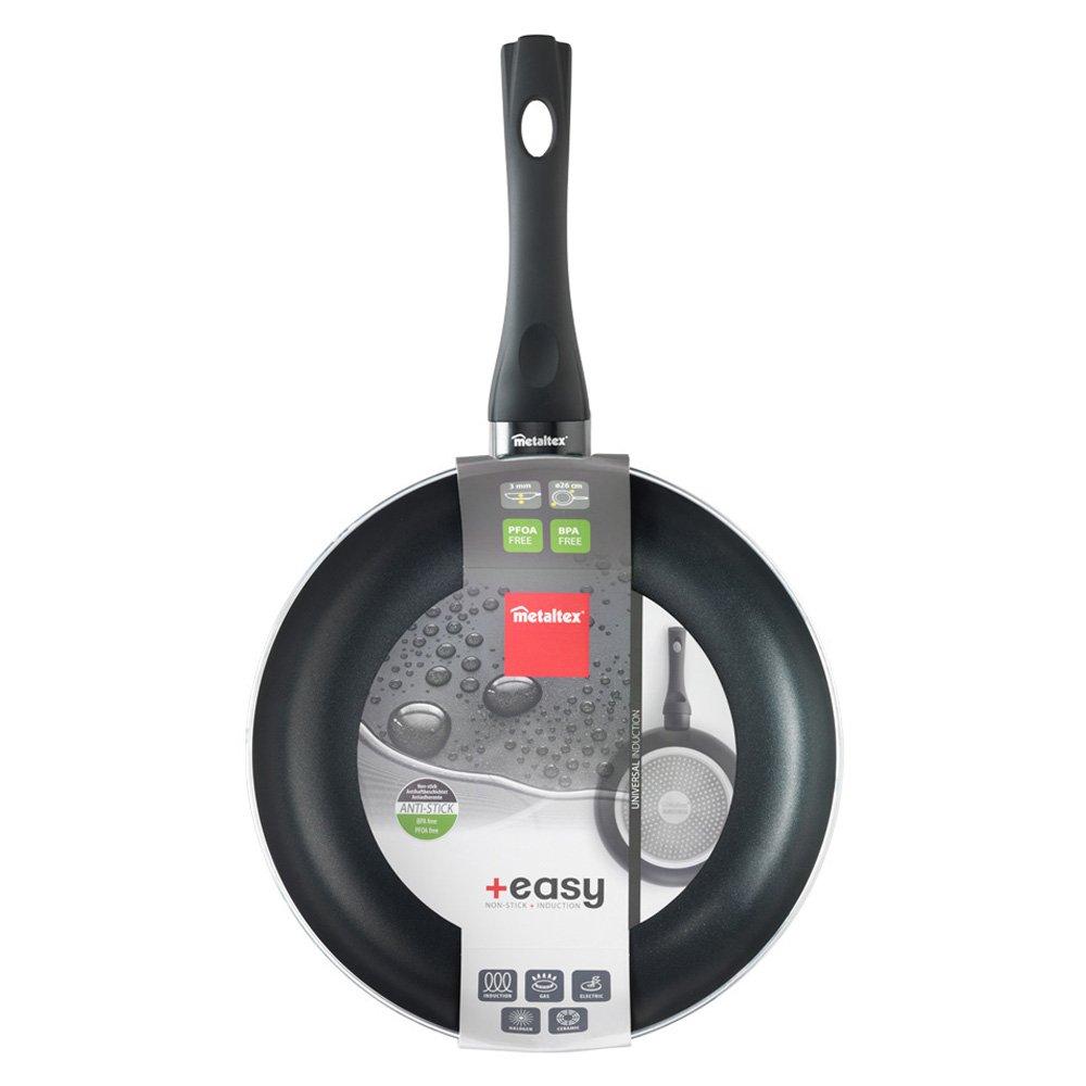 Metaltex +EASY - Sartén Aluminio Prensado, 26 cm, antiadherente 2 capas, Dot Induction válido para todo tipo de cocinas: Amazon.es: Hogar