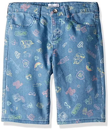 The Children's Place Big Girls' Denim Skimmer Shorts, Light Medium wash, 12 Plus (Children Place Clothes)
