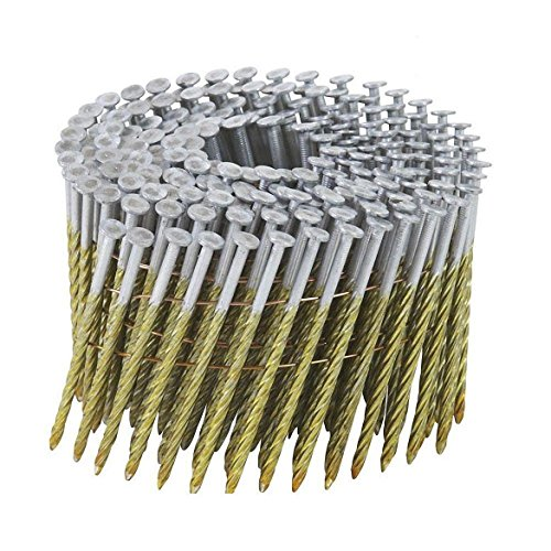 Shank 15 Degree Coil Framing (BOSTITCH C10S120DG Thickcoat Round Head 3-Inch by .120-Inch by 15 Degree Wire Collated Screw Shank Coil Framing Nail (2,700 per Box))