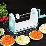 kitchen active spiralizer - Spiral Vegetable Slicer, Spiralizer by JIMO, Zucchini Spaghetti Slicer, for Veggie Pasta, Low Carb Paleo Gluten-Free Meals, 5 Blades, New Model