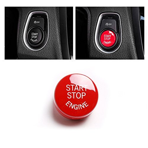 Car Start Stop Engine Button Switch Cover For BMW Sliver