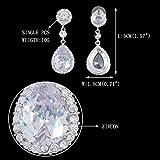 EVER-FAITH-Flower-Teardrop-Dangle-Earrings-Austrian-Crystal-CZ