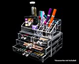 Compra Novel Box Ultra Clear Acrylic Cosmetic & Jewelry 2-Piece Storage Organizer (Rectangular Top + 4 Drawers) en Usame