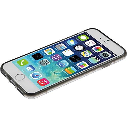 PhoneNatic Case für Apple iPhone 6 Plus / 6s Plus Hülle grau transparent Hard-case für iPhone 6 Plus / 6s Plus + 2 Schutzfolien