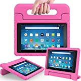 AVAWO Shock Proof Case for Fire HD 8 2017 Tablet - Kids Shockproof Convertible Handle Light Weight Protective Stand Case for Fire HD 8-inch (7th Generation, 2017 Release), Rose