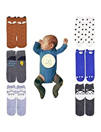 October Elf Unisex Baby Knee High Stockings Tube Socks 6 Pairs
