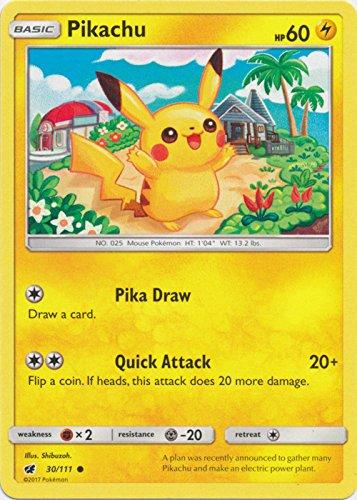 Pikachu - 30/111 - Common - Sun & Moon: Crimson Invasion