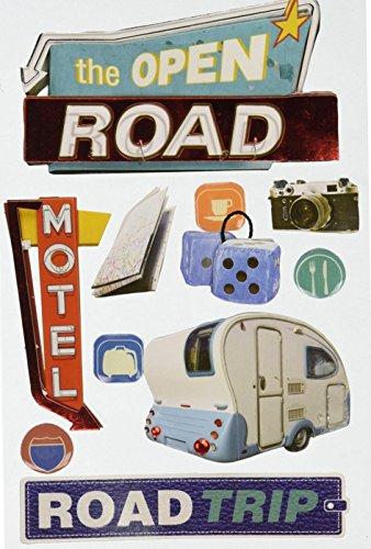 Road Trip RV Camper Paper House STDM-0072E 3D Cardstock Stickers Scrapbooking Embellishments
