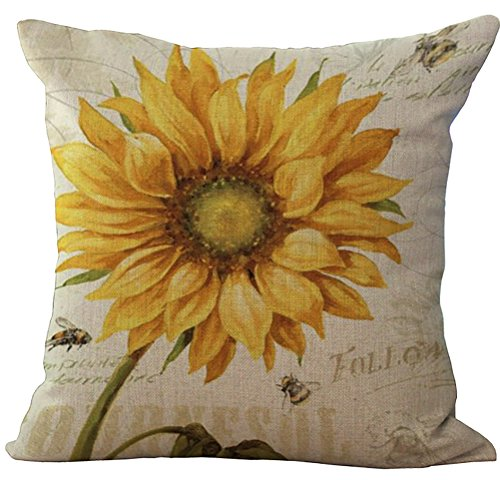 Yellow Floral Pillow - 9