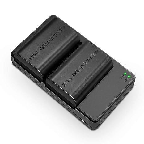 Soluser Cargador Canon LP-E6/LP-E6N Batería Recargable para Cámara de Fotos para Canon EOS 60D/EOS 7D/5D MK II (2 * 2000mAh Baterías del Reemplazo, ...